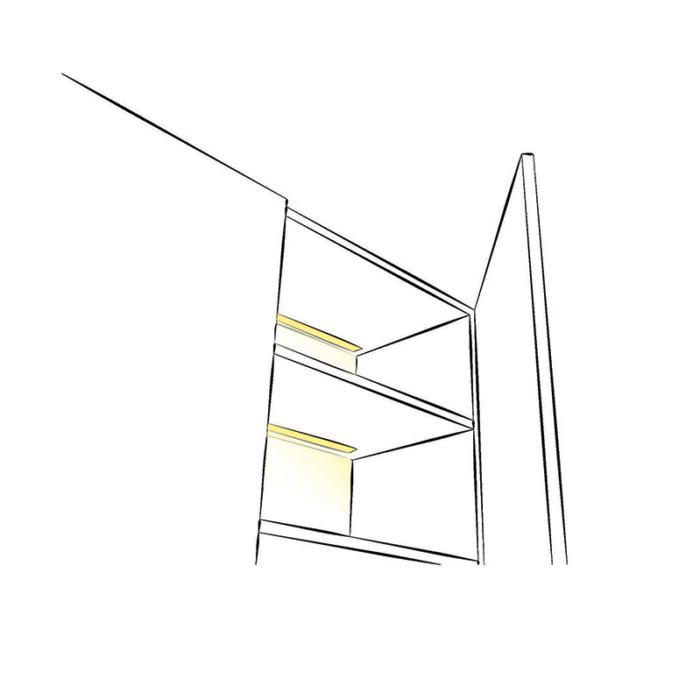 Rodled maxi - profil led z tworzywa sztucznego do wpsutu - aranżacja