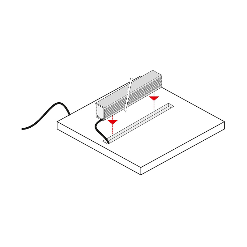 Rodled maxi - profil led z tworzywa sztucznego do wpsutu - montaż