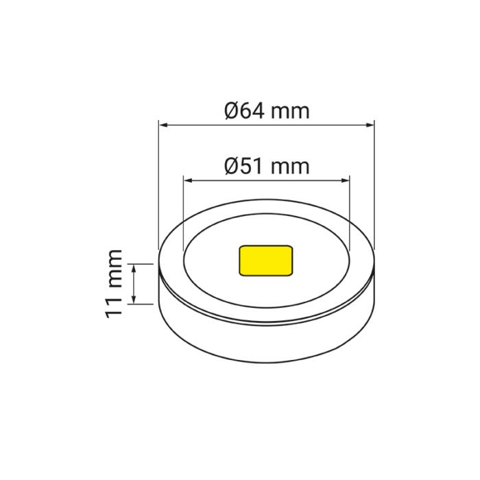 oprawa LED - Royal Base - rysunek techniczny