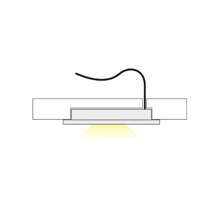 Metalowa oprawa LED - Royal - światło