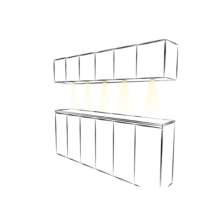 Metalowa oprawa LED - Royal - aranżacja