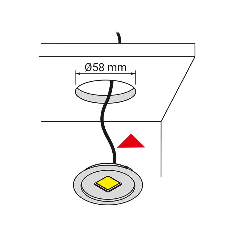 Metalowa oprawa LED - Royal - montaż