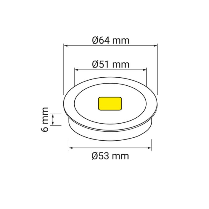 Metalowa oprawa LED - Royal - wymiary