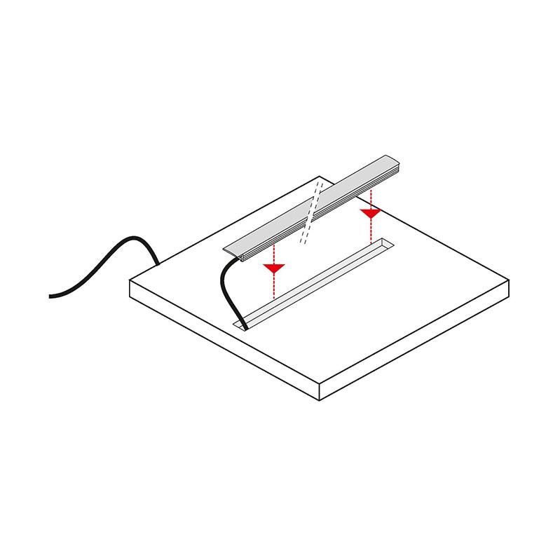 Rodled - profil do taśm led do wpustu. Wykonany z tworzywa sztucznego - montaż