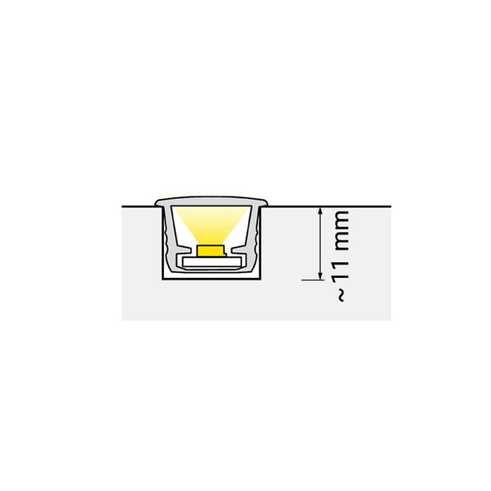Rodled - profil do taśm led do wpustu. Wykonany z tworzywa sztucznego - montaż, światło