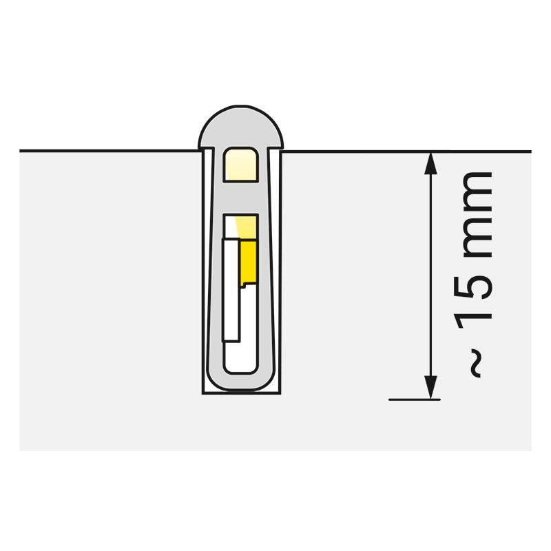 Rodled slim - profil z tworzywa sztucznego do led.- światło
