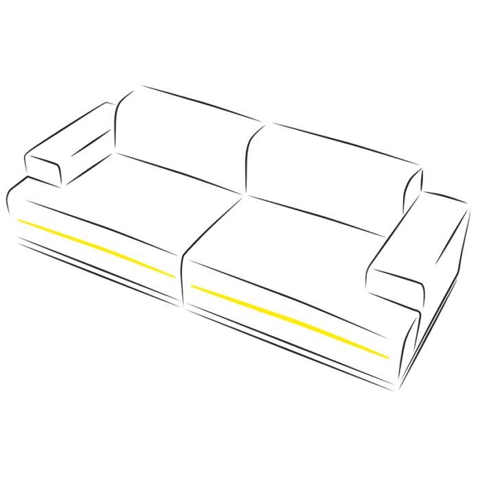 Rodled slim - profil z tworzywa sztucznego do led. - aranżącja