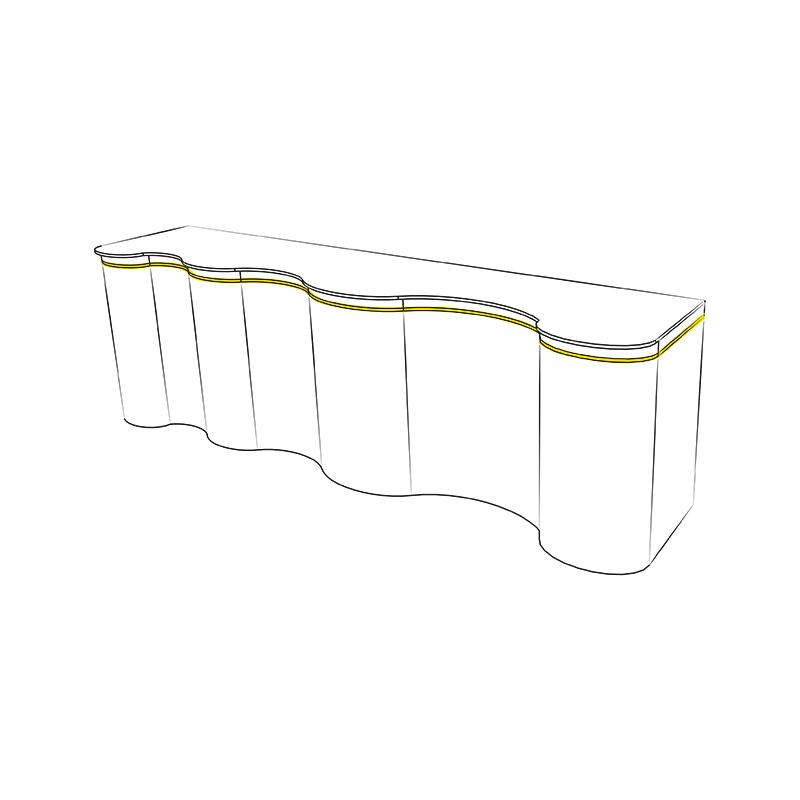 Elastyczny profil do taśm LED - Snake - przykładowe zastosowanie