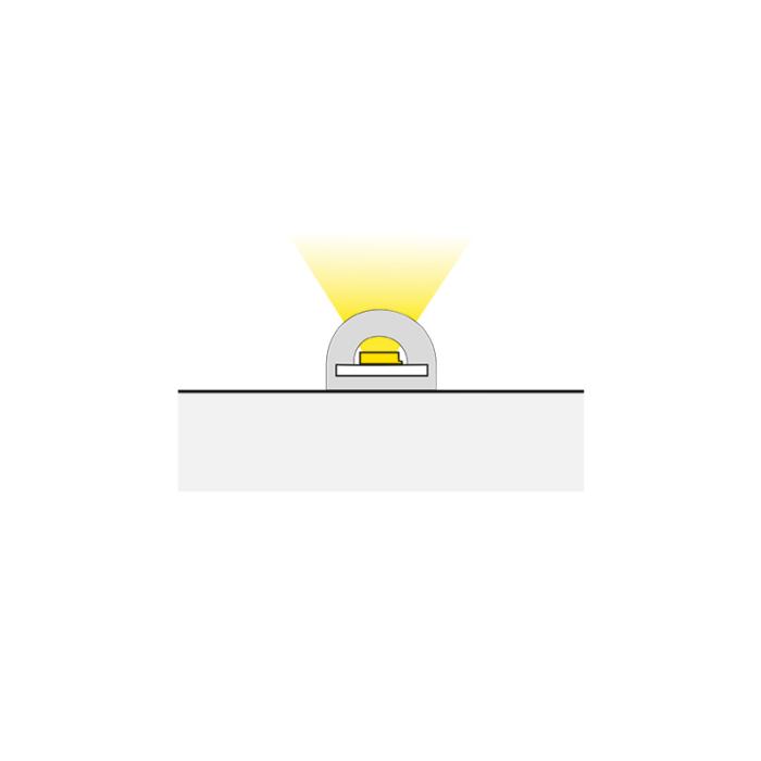 Elastyczny profil do taśm LED - Snake - sposób świecenia