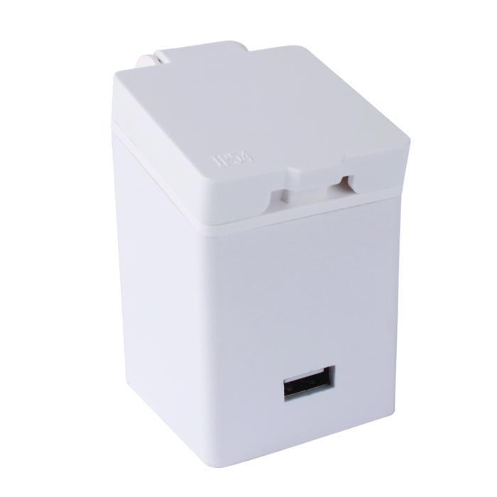 Gniazdo meblowe 250 V AC 16 A z ładowarką USB do mebli