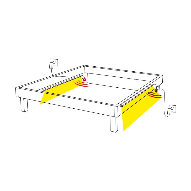 Oświetlenie LED pod łózko – Spectro Bed