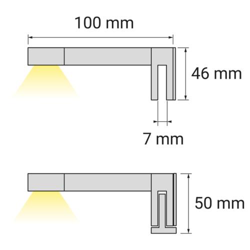 Wysięgnik LED Sabi M - sposób montażu