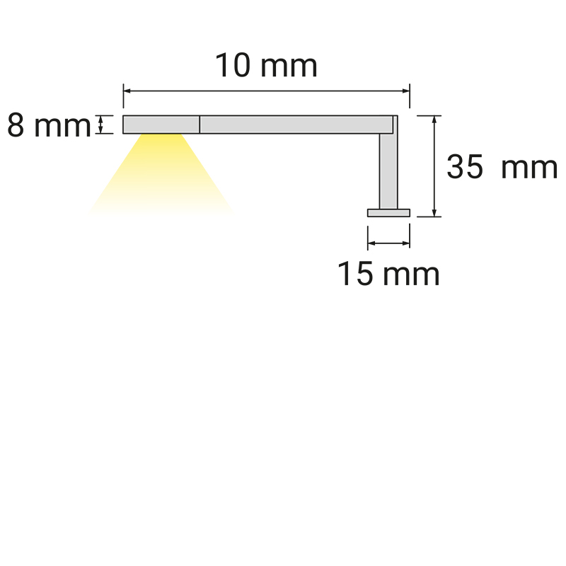 Wysięgnik LED Simeto L - światło