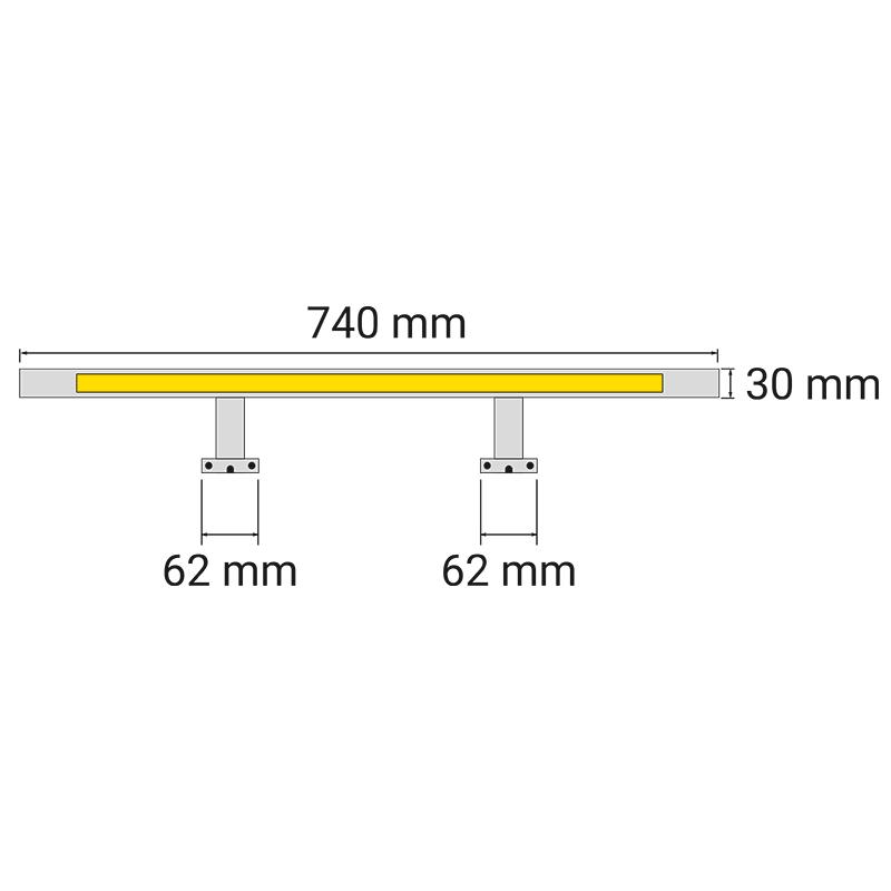 Wysięgnik LED Simeto L - wymiary