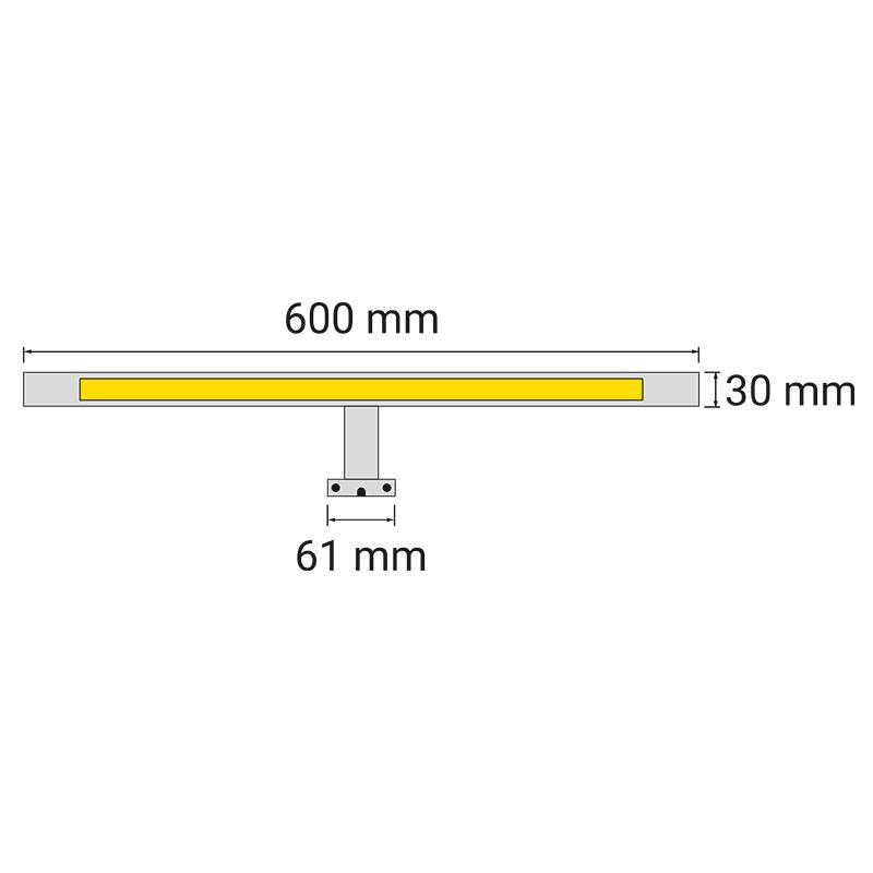 Wysięgnik LED Simeto L - rysunek techniczny