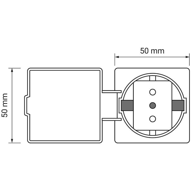 gniazdo IP54 250V AC 16A