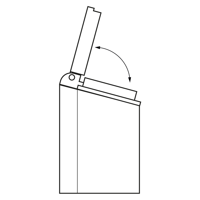 Gnizdo meblowe 250V AC rysunek techniczny