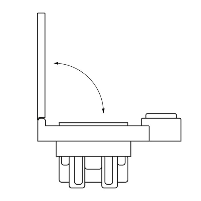 Gniazdo 250 V AC z wyłącznikiem białe - rysunek techniczny