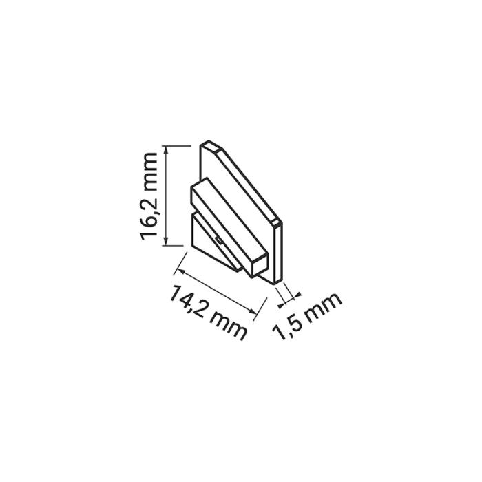 Starline Micro - zaślepka do profilu aluminiowego led
