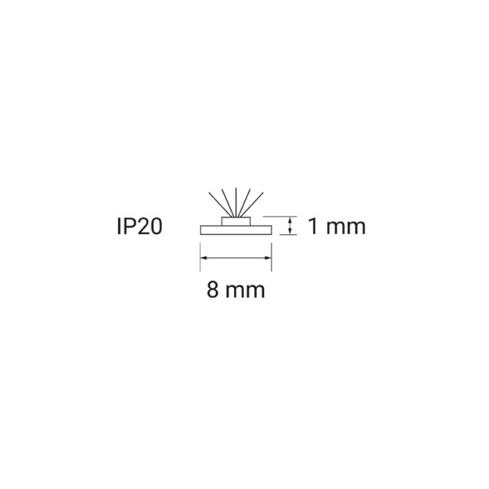 Taśma LED 120 LED IP20 - przekrój