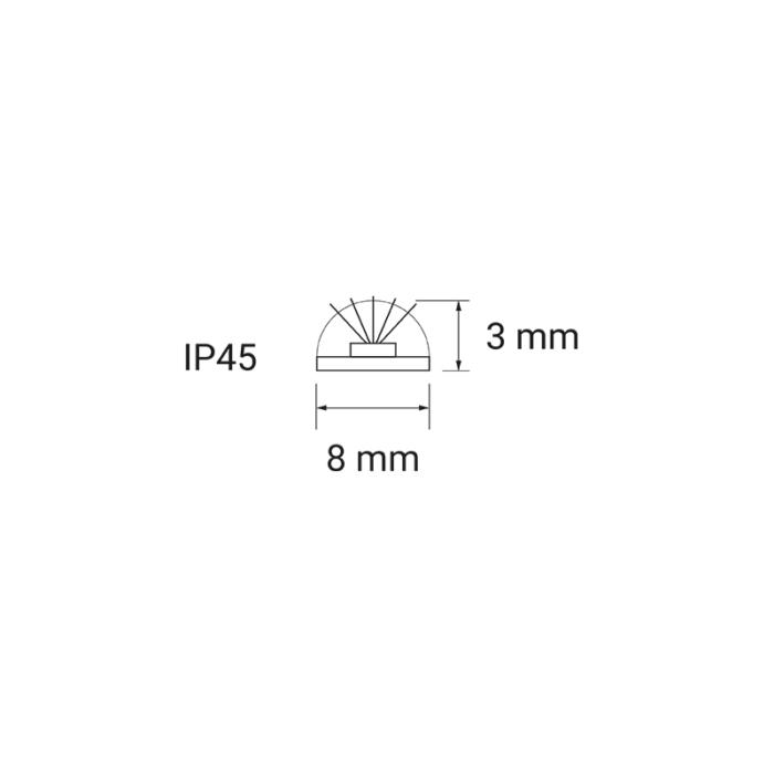 Taśma LED 60 LED IP45 taśma żelowana przekrój