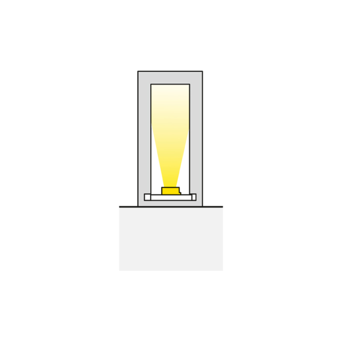 Profil trend 10 x 21 mm do oświetlenia led z tworzywa sztucznego. Światło.