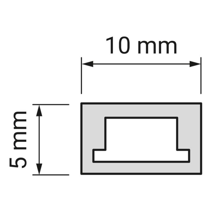 Profil trend 10 x 5 mm do oświetlenia led z tworzywa sztucznego.