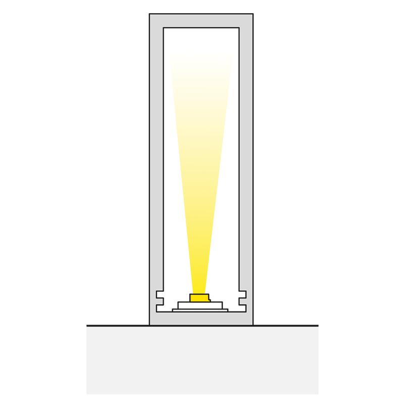 Profil trend 15 x 45 mm do oświetlenia led z tworzywa sztucznego