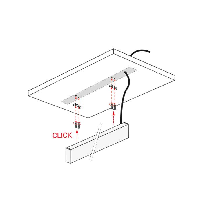 Profil trend 15 x 45 mm do oświetlenia led z tworzywa sztucznego - sposób montażu