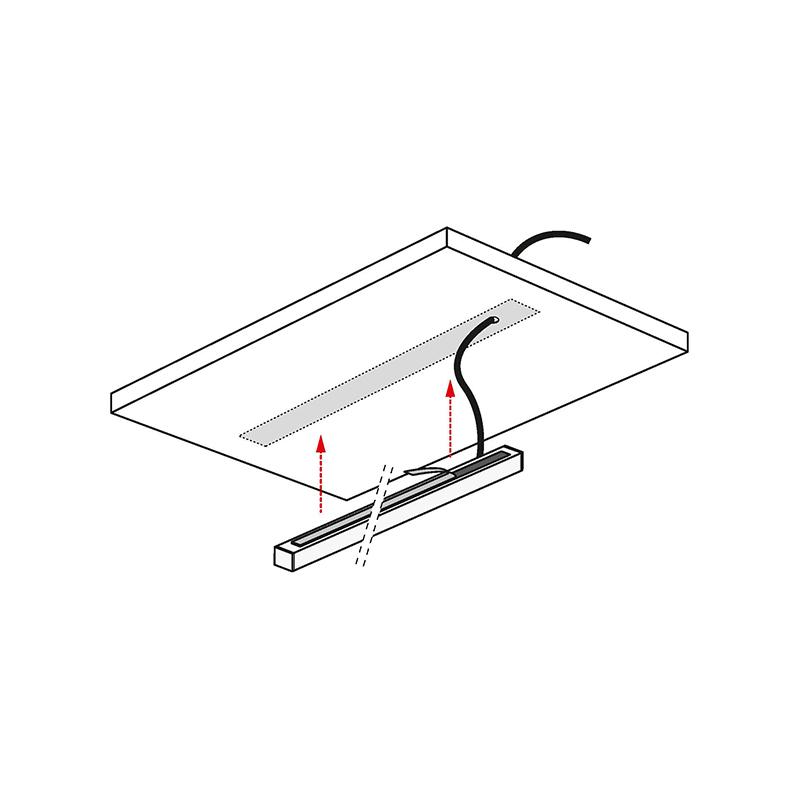 Profil trend do oświetlenia led z tworzywa sztucznego - montaż