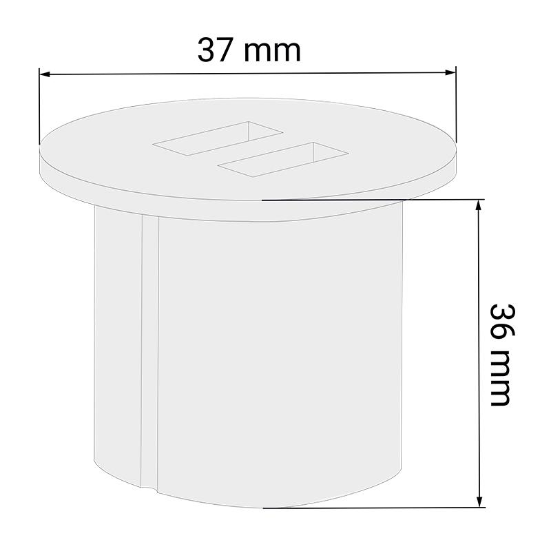 ładowarka USB do mebli do wpustu - okrągła
