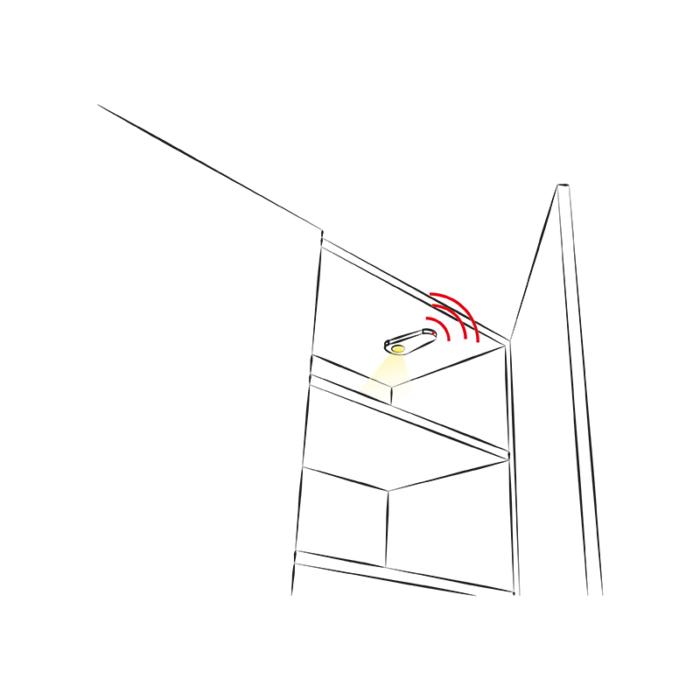 Oprawa LED do mebli Visir - aranżacja