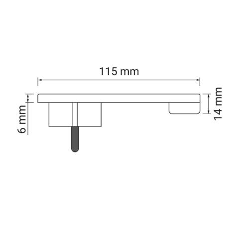 Flat plug 230 V AC, 16 A