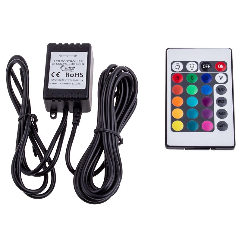 Zestaw sterujący oświetleniem RGB LED IR