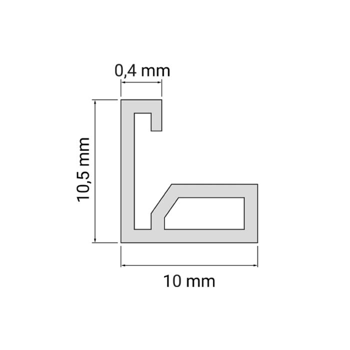 Profil do taśm led - nico - rysunek techniczny