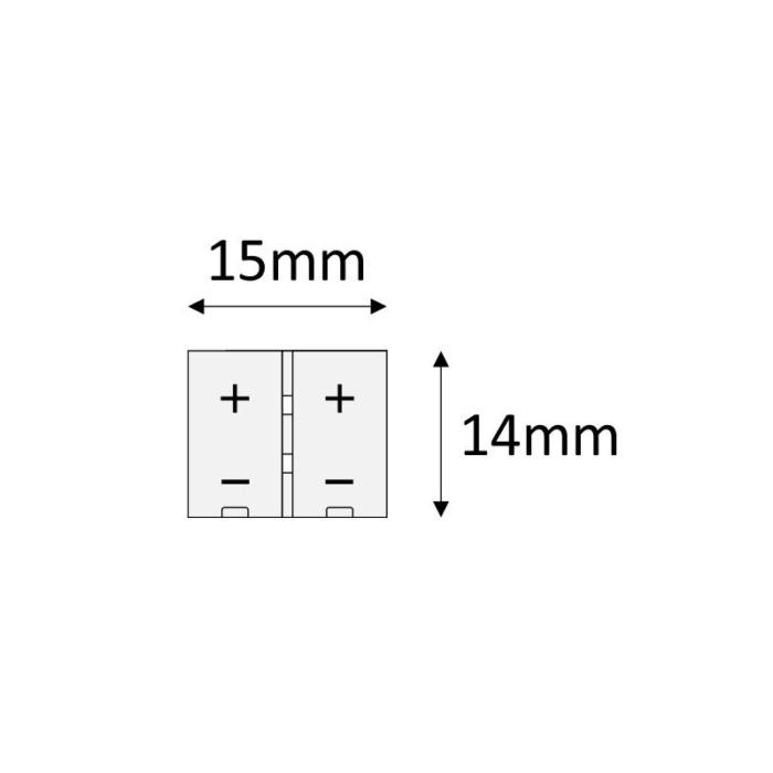Przewód montażowy do taśm LED 10 mm - rysunek techniczny