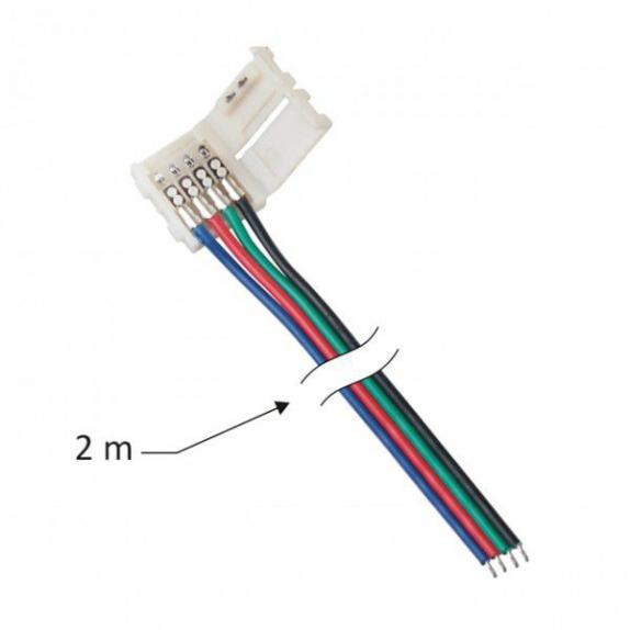 Przewód montażowy do taśm LED RGB 10 mm