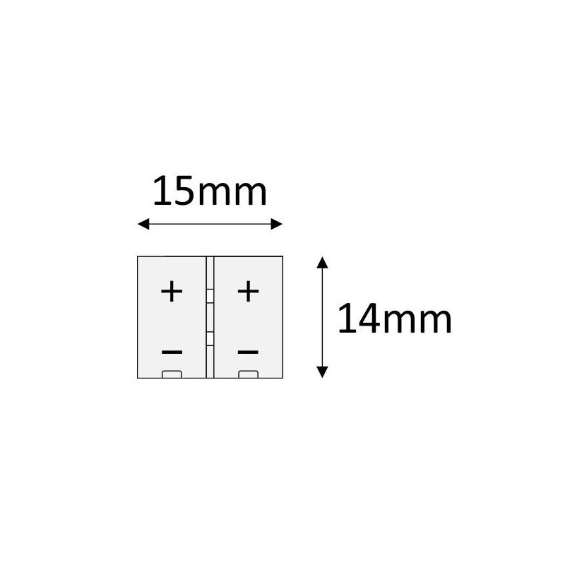 Złączka do taśm LED 10 mm - rysunek techniczny
