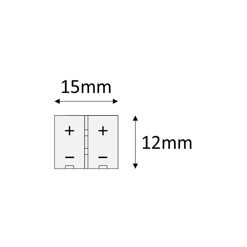 Złączka do taśm LED 8 mm - rysunek techniczny