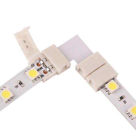 Złączka kątowa do taśm LED 8 mm