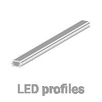 LED profiles for LED stripes.